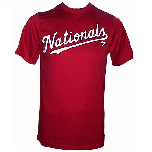(Washington Nationals (ADULT XL) 100% Cotton Crewneck MLB Officially Licensed Majestic Major League Baseball Replica T-Shirt Jersey)