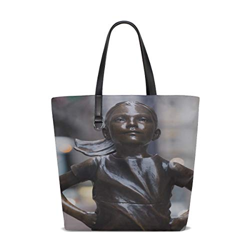 Rh Studio Tote Bag Fearless Girl Sculpture Bronze Purse Handbag For Women Girls
