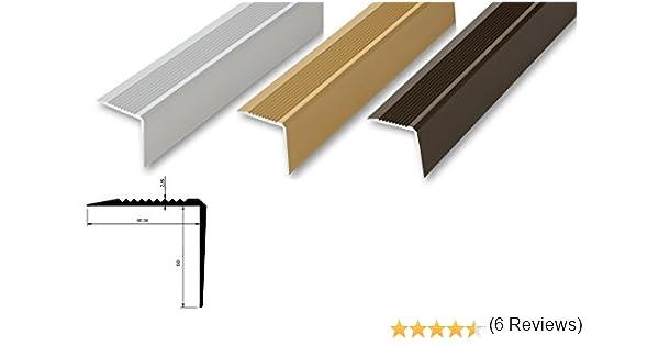 Ángulo de escalera 53 x 53 x 900-1180 mm, para atornillar o sin perforar, perfil de escalera de perfil de aluminio en ángulo – dimensiones interiores 50 x 50 mm: Amazon.es: Bricolaje y herramientas