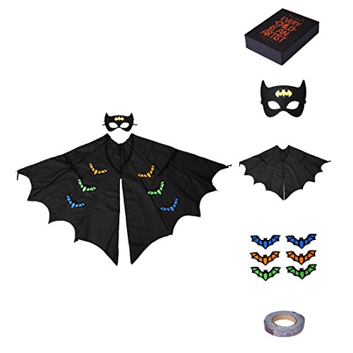 Halloween Batman Cosplay Costume with Mask and Cape DIY Gift for Kid