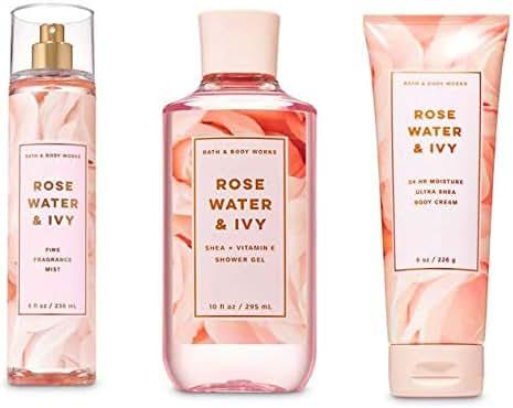 Rose Water & Ivy Mist, Showerl Gel & Body Cream Collection