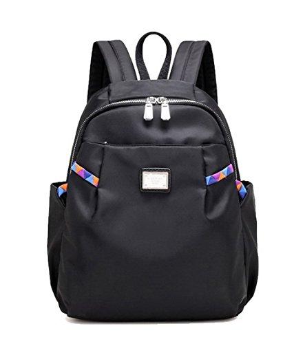 Femme bandoulière Sacs Sacs TSFBH181456 dos Noir Noir Zippers Voyage AalarDom Nylon à Daypack à BRIqwaBxdE
