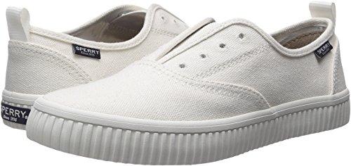 Sperry Women's Crest Creeper CVO Sneaker, White, 9.5 Medium US