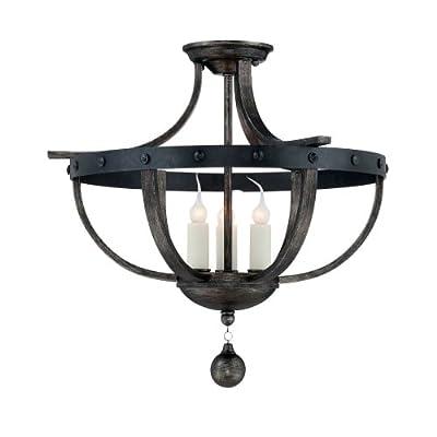 Savoy House 6-9540-3 Alsace 3 Light Semi Flush Mount Ceiling Fixture,