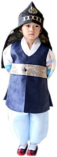 [Korean Hanboks boys babys kids traditional costumes birthday party DOLBOK hb41 (3 ages)] (Korean Costume For Boys Kids)