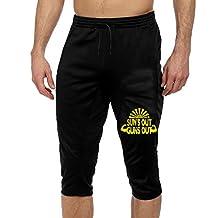 Men's Men Casual Sports Pants Suns Out Guns Out 3/4 Capri Pant Sweat Pants With Two Side Pockets