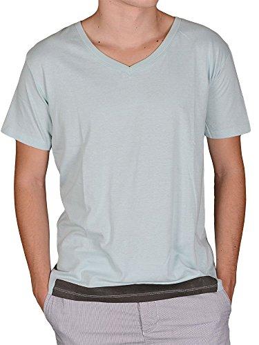 Soul Star - T-shirt - shortsleeve - mint mit V- Ausschnitt-M