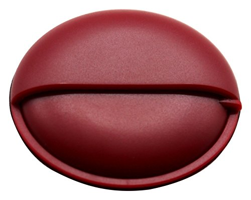 PuTwo Pill Organizer for Purse, Small Travel Pill Case, Round Metal Pill Box-Red from PuTwo
