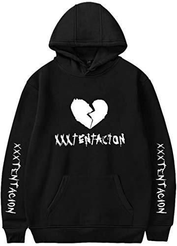 EmilyLe Unisex Hoodies Rapper RIP Xxxtentacion Hip Hop Sweatshirt(XL,Heart Broken Black)