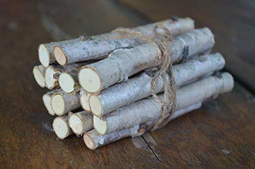 White birch logs, mini birch sticks, a set of 14 wooden sticks, deko decor, wood trim, decorative birch wood, supply of natural Kraft