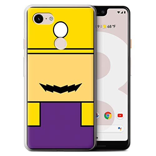 STUFF4 Gel TPU Phone Case/Cover Google Pixel 3 XL/Wario Inspired Design/Retro Gaming Characters Collection -