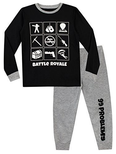 Battle Royale Boys' Gaming Pajamas Size 16 Multicolored -