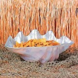 """Large Plastic Seashell Bowl. 18 1/2"""" x 11 1/2"""" x 8"""". Size: Large. Great for parties of all kinds. Display on a table at a party for the best effects possible!"""