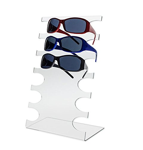 Source One Deluxe Tier Clear Acrylic Sunglasses Eyeglasses Display Stand Holder (1 Pack, 6 - Sunglasses Corporate