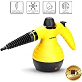 Marsboy Handheld Pressurized Steam Cleaner with 9 FREE Accessories, Powerful Steam Shot Hard-Surface Cleaner for Removing Grease, Stains, Mold, & more