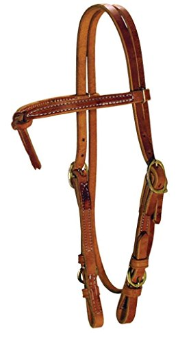 Knotted Browband Headstall with Buckle Cheek (Heavy Oil) ()
