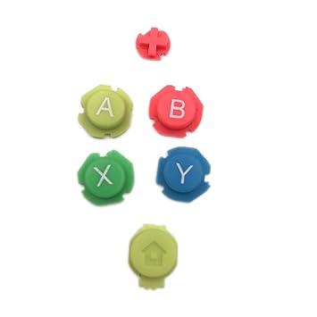 Amazon.com: Colorido botón izquierdo derecho ABXY ...