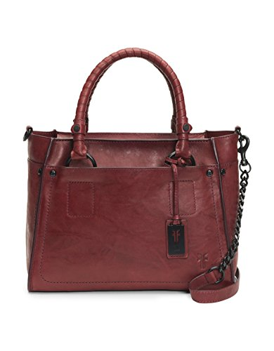 FRYE Demi Satchel Leather Handbag, burnt apple