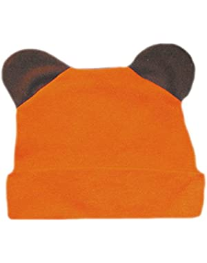 Jacqui's Baby Boys' Orange Bear Hat with Ears