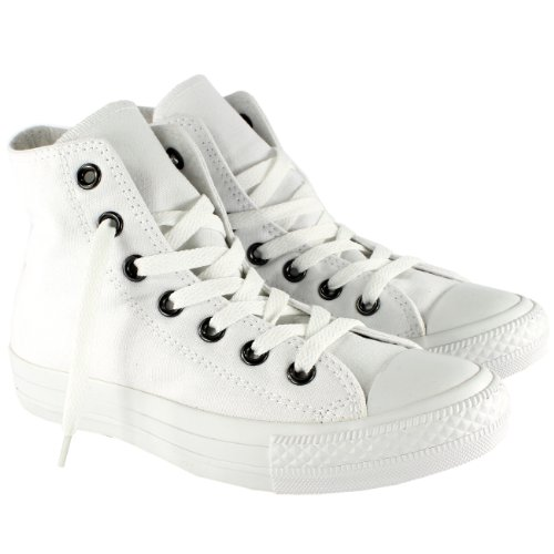 Converse AS Hi Can charcoal 1J793 Unisex-Erwachsene Sneaker White Mono