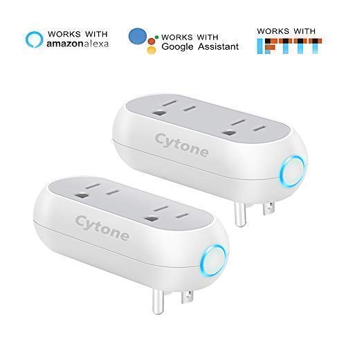 Smart Plug WiFi Smart Plug WiFi Smart Outlet Smart WiFi Plug,Remotely Control Your Home Appliances From Anywhere?Compatible with Alexa and Google Assistant & IFTTT?ETL Certified?White (2 Pack)