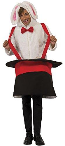 Magic Hat Bunny Costume (Rubie's Costume Co Rabbit Hoodie- Guy Costume, Standard)
