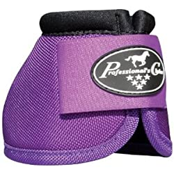 Professionals Choice Equine Ballistic Hoof Overreach Bell Boot, Pair (Medium, Purple)