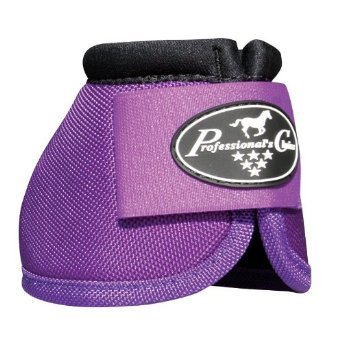 Professionals Choice Equine Ballistic Hoof Overreach Bell Boot, Pair (Large, Purple)