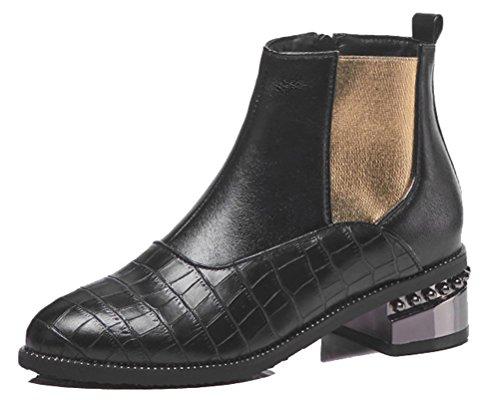 Boots Femme Black 5 Winter HiTime 36 Chelsea Noir andFv