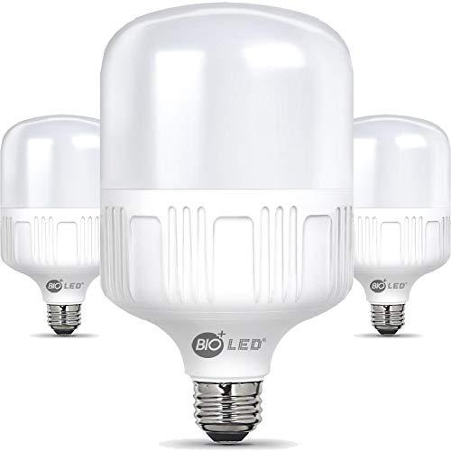 Bioled Lot de 3 ampoules LED E27 Blanc chaud 3000 K Équivalent 200 W 2000 lm Ampoule LED, ampoule LED, résistant à l'humidité