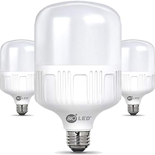 Lampadina a LED BIOLED, 20 W/50 W, sostituisce 150 W, 200 W, 300 W, 350 W, set da 2 pezzi, E27, T80, T125, colore bianco/bianco caldo, confezione da 3 in 1