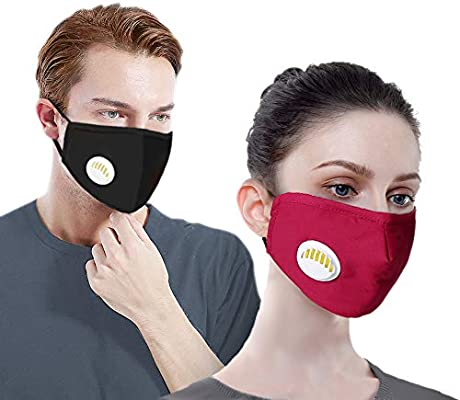2 With Carbon Pollution Reusable Activated 4 Mask Filters Pack N95