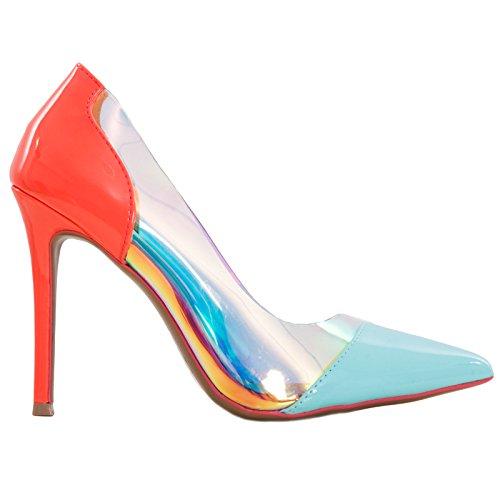 mujer Toocool turquesa para Sintético Zapatos vestir de de Material RSp4Rq