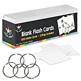Image of Star Right Blank Flash Cards - 5 Rings, 1000 Index Cards, 2x3