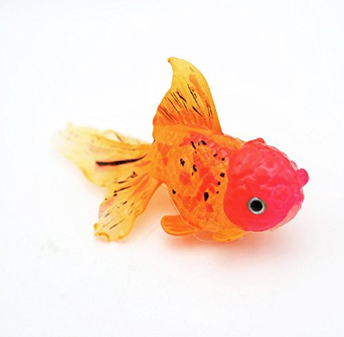 HOT Item! Decor Goldfish Aquarium Decoration Artificial Glowing Effect Fish Tank Glow in The Dark Ornament (M, D)