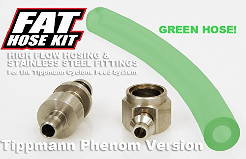 TECHT Fat Hose Kit (Green) for Tippmann Phenom Markers by TECHT Paintball