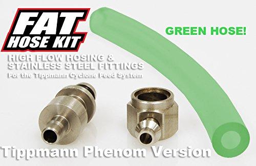 TECHT Fat Hose Kit (Green) for Tippmann Phenom Markers