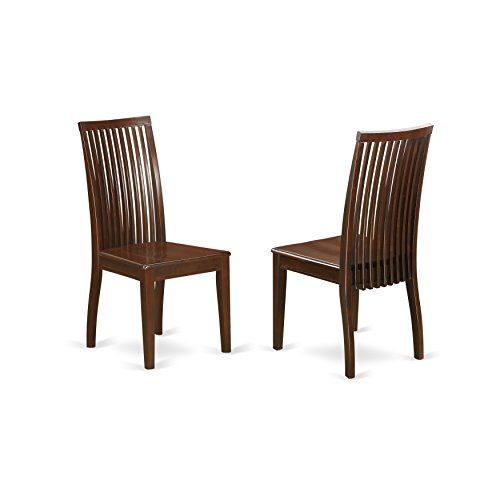 - East West Furniture IPC-MAH-W Ipswich Dining Chair with Slatted Back Medium Mahogany