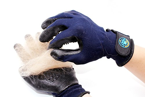 CareYourPet Best Pet Grooming Glove - Cat, Horse, Dog Hair Remover with Adjustable Wrist Design - Gentle Deshedding Glove Perfect for Shedding, Bathing, Massaging & Hair Removal by CareYourPet (Image #3)