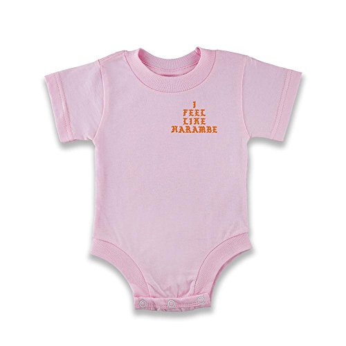 [I Feel Like Harambe Pink 6M Infant Bodysuit by Pop Threads] (Pink Gorilla Suit)