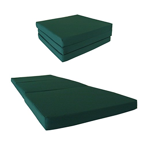 (D&D Futon Furniture Green Shikibuton Trifold Foam Beds 3