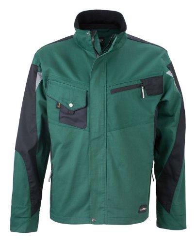 James & Nicholson de, Messieurs, Workwear Jacket Cordura Dark Green