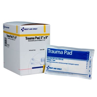 (First Aid Only Trauma Pad, 5 Inch X 9 Inch, 10 Count Box)