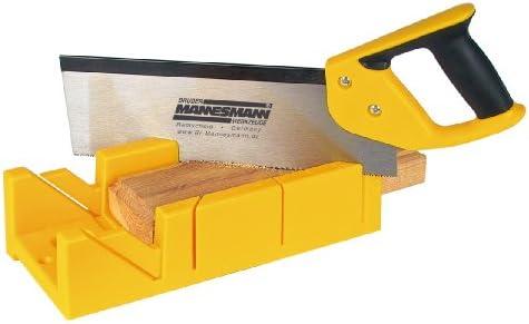 Mannesmann - M30182 - Caja de ingletes con sierra de mano: Amazon ...