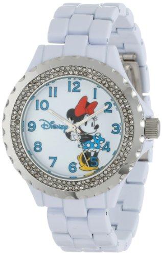 Disney Women's W000500 Minnie Mouse Enamel Sparkle Bracelet Watch ()