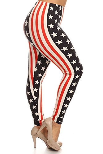 Always USA Flag Leggings - Plus Size - Inspired by America