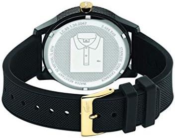 Lacoste Men's TR90 Japanese Quartz Watch with Rubber Strap, Black, 19.5 (Model: 2011010) 4