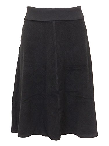 Hard Tail Short Roll Down Terry Skirt Black M