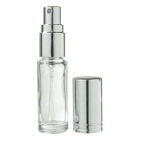 Clear Glass Refillable Travel Perfume Spray Bottle - 0.15 oz