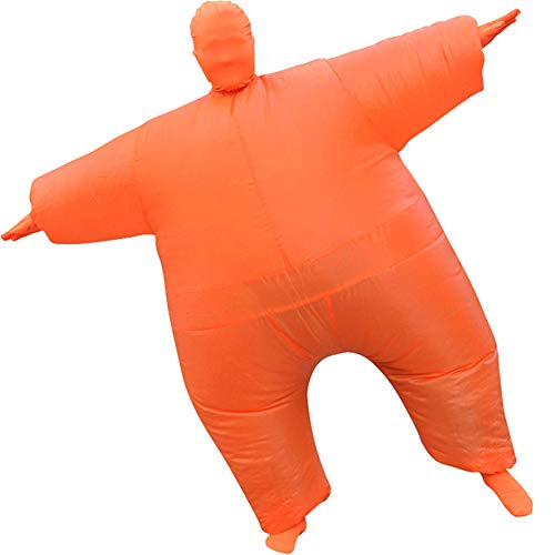 HUAYUARTS Inflatable Full Body Suit Costume Adult Funny Cosplay Cloth Party Toy Gift for Halloween Christmas, Free Size, Orange ()